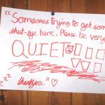 Sign on Irene's Door Tonight