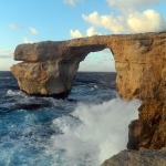 Images of the Magical Azure Window in Gozo, Malta. And I learn about God's Infinity Game