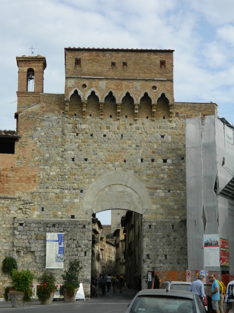 An entrance to San Gimignano, Tuscany.