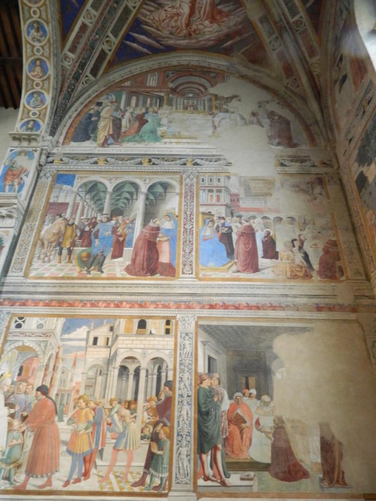 Fresoco behind altar (San Agostino church, San Gimignano)