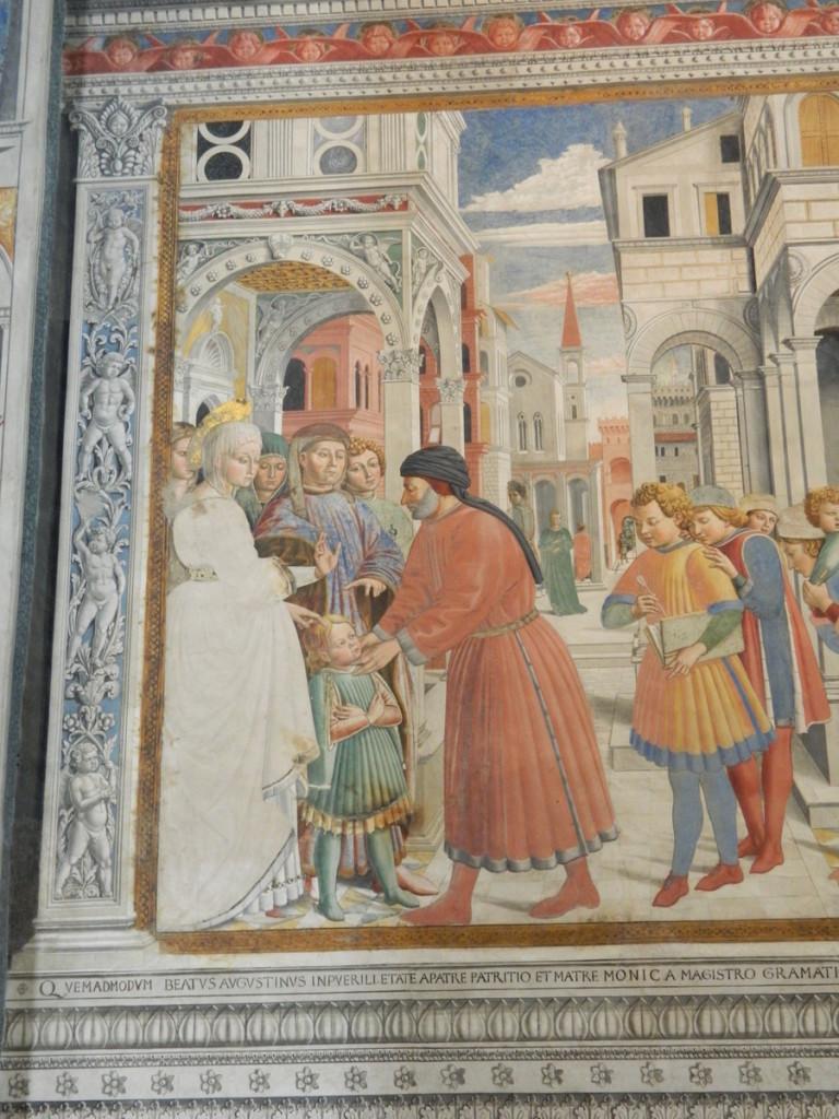 Fresco behind altar (San Agostino church, San Gimignano)