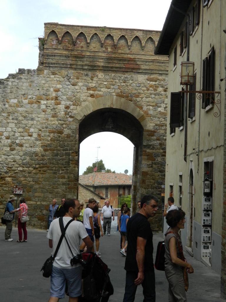 San Gimignano entrance, from the inside