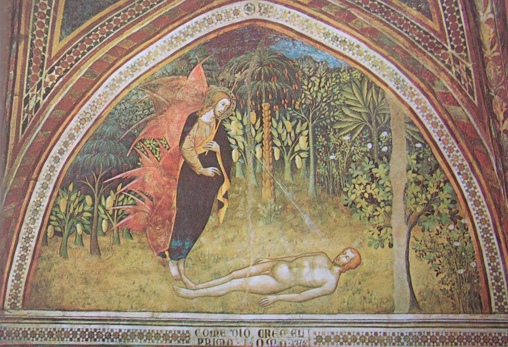 The creation of Adam. Duomo, San Gimignano.