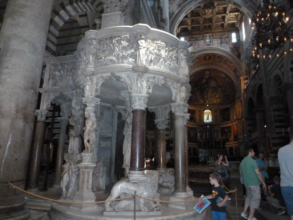 The renaissance pulpit.