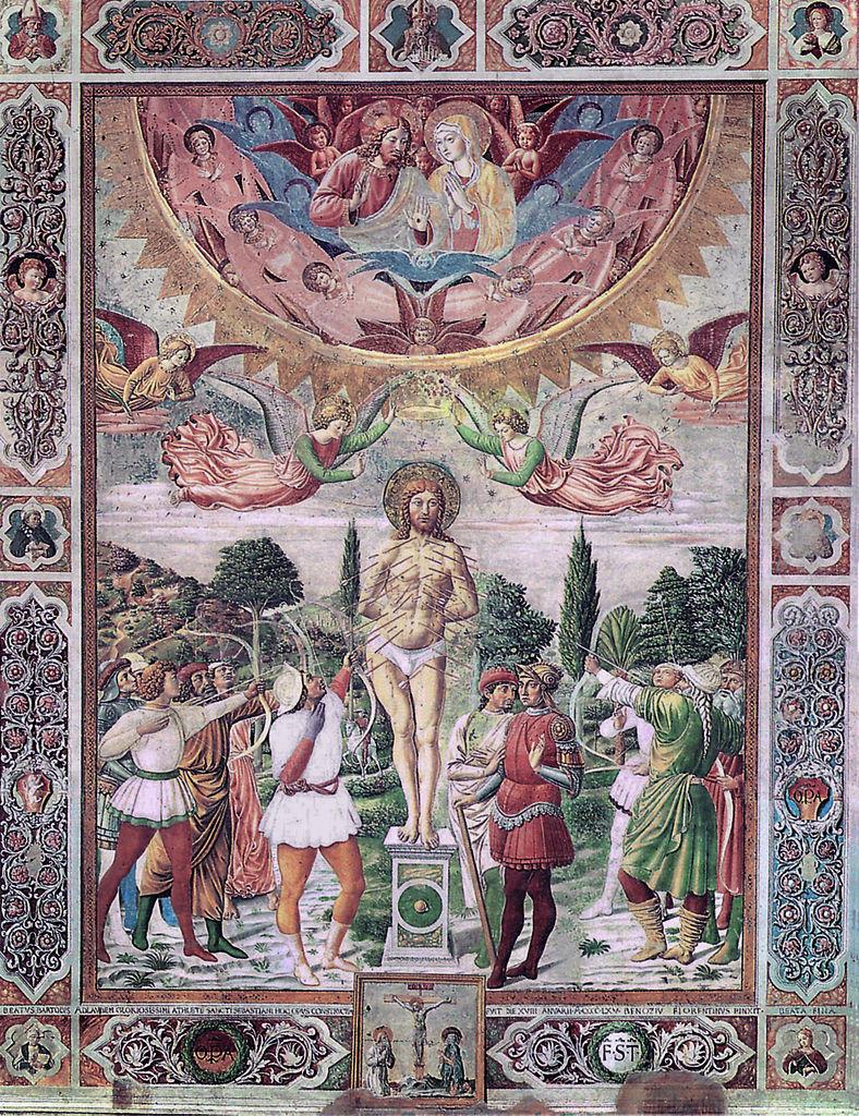 Martydom of St Sebastian. Duomo, San Gimignano.